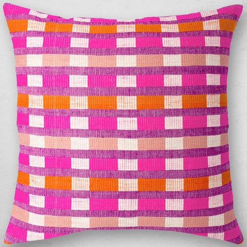 Bole Road Textiles Mursi Pillow in Cerise