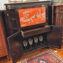 Load image into Gallery viewer, Vintage Asian lacquered Bar Cabinet