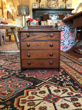 Load image into Gallery viewer, Antique Miniature Oak Chest