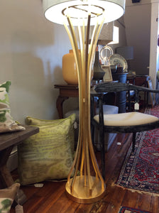 World's Away Hourglass Floor Lamp