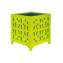 Load image into Gallery viewer, Worlds Away Libby Planter Lime Green