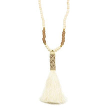 Load image into Gallery viewer, Ink and Alloy Tassel Necklace