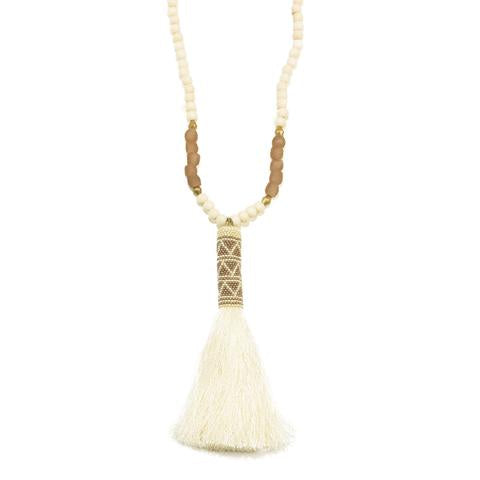 Ink and Alloy Tassel Necklace