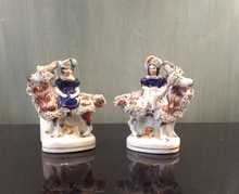 Load image into Gallery viewer, Pair of Staffordshire Figures