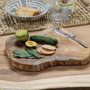 Zodax Bali Teak Root Serving Board w/Stainless Steel Knife