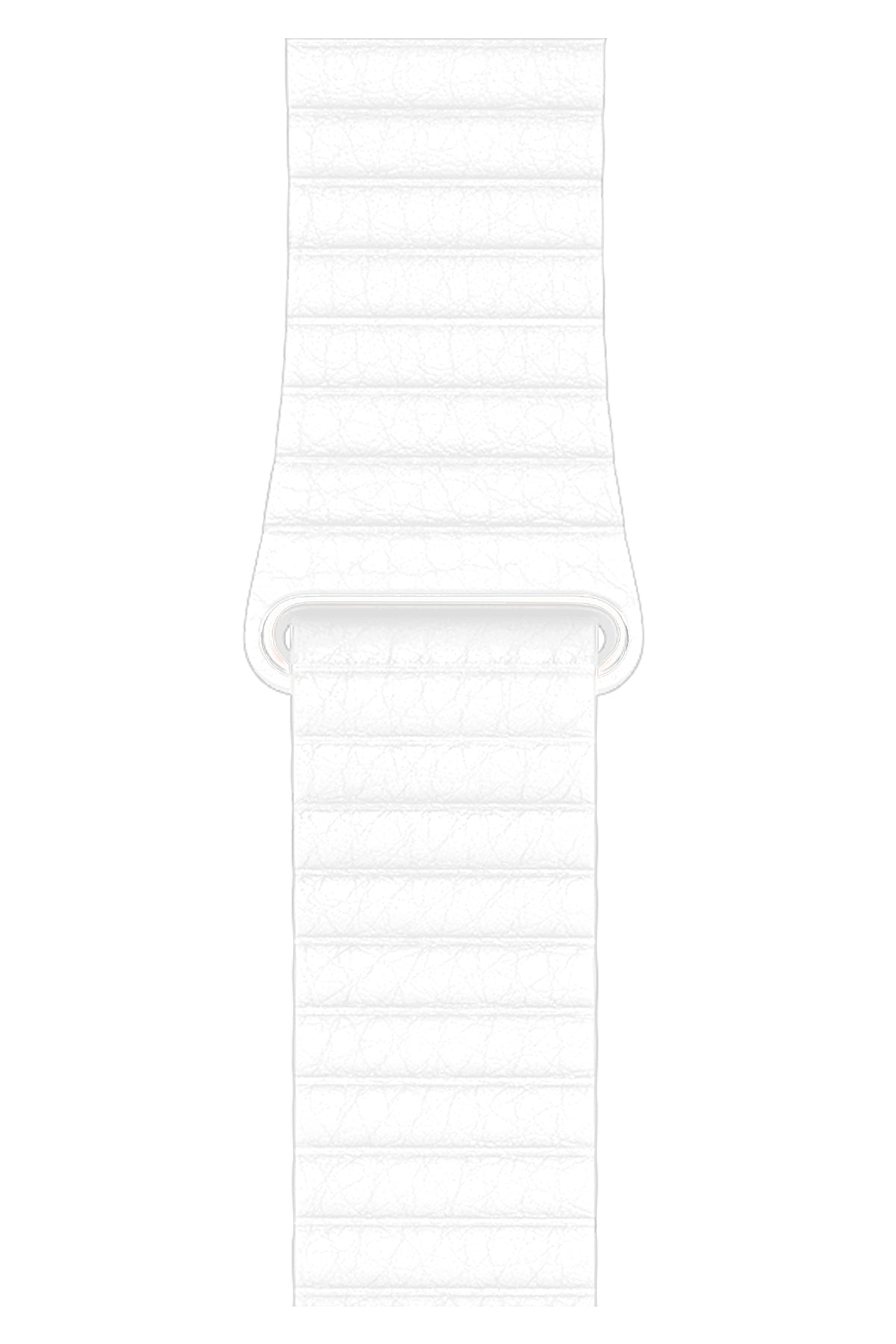 Apple Watch Uyumlu Deri Loop Kordon Beyaz