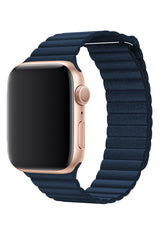 Apple Watch Deri Loop Lacivert