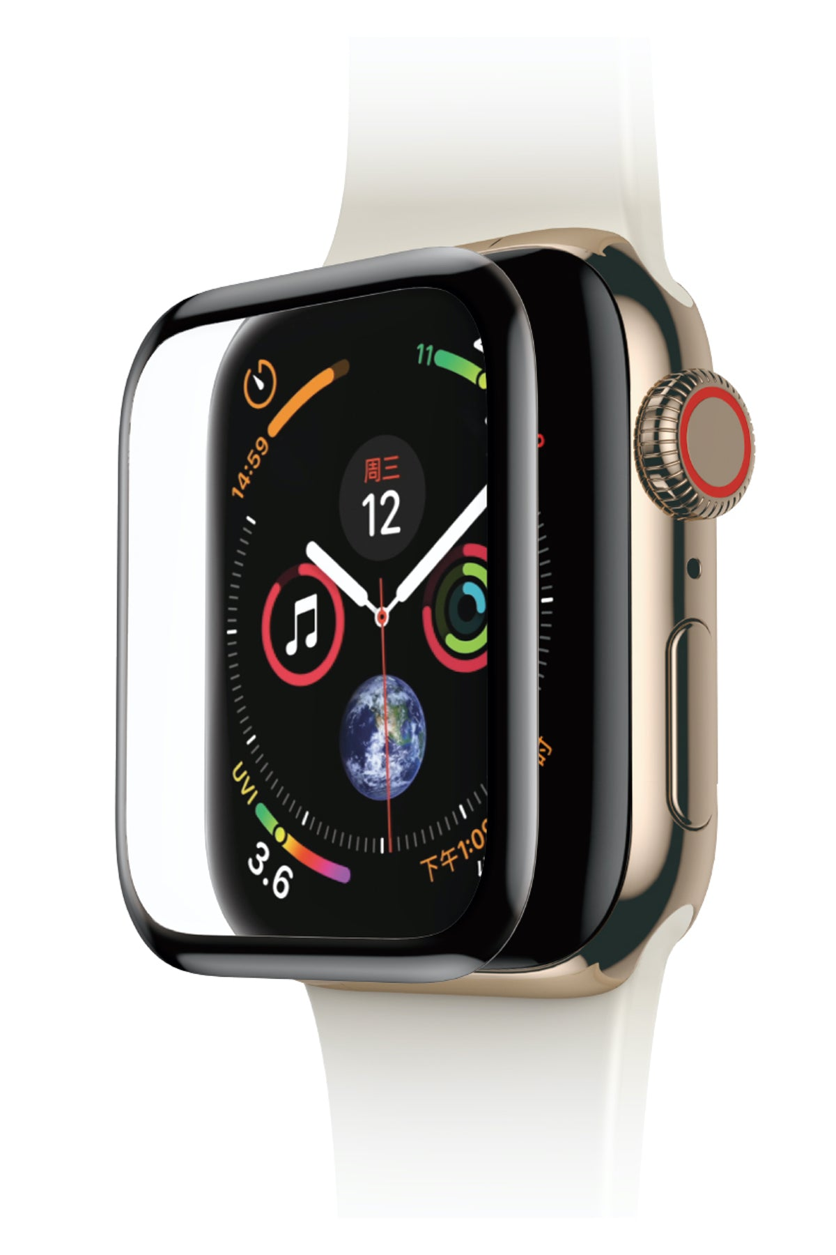Apple Watch Kavisli 3D Ekran Koruyucu