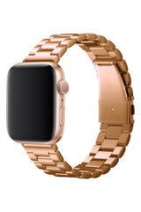 Apple Watch Üç Bakla Çelik Loop Kordon Rose Gold