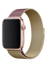 Apple Watch Çelik Milano Loop Altın Pembe