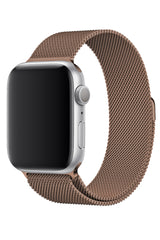 Apple Watch Uyumlu Çelik Milano Loop Bronz