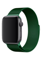 Apple Watch Çelik Milano Loop Cam Yeşil