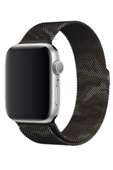 Apple Watch Uyumlu Çelik Milano Loop Kamuflaj Haki