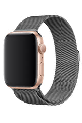 Apple Watch Uyumlu Çelik Milano Loop Uzay Gri