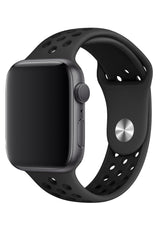 Apple Watch Silikon Delikli Spor Kordon Petrol Siyah