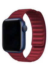 Apple Watch Uyumlu Baklalı Deri Loop Kordon Rouge