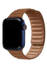 Apple Watch Uyumlu Baklalı Deri Loop Kordon Terra