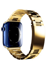 Apple Watch Uyumlu Credo Loop Çelik Kordon Gold
