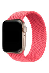 Apple Watch Uyumlu Örgü Loop Kordon Mercan Pembe