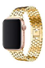 Apple Watch Uyumlu Simetro Loop Çelik Kordon Gold