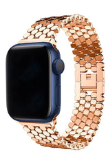 Apple Watch Uyumlu Simetro Loop Çelik Kordon Rsoe Gold