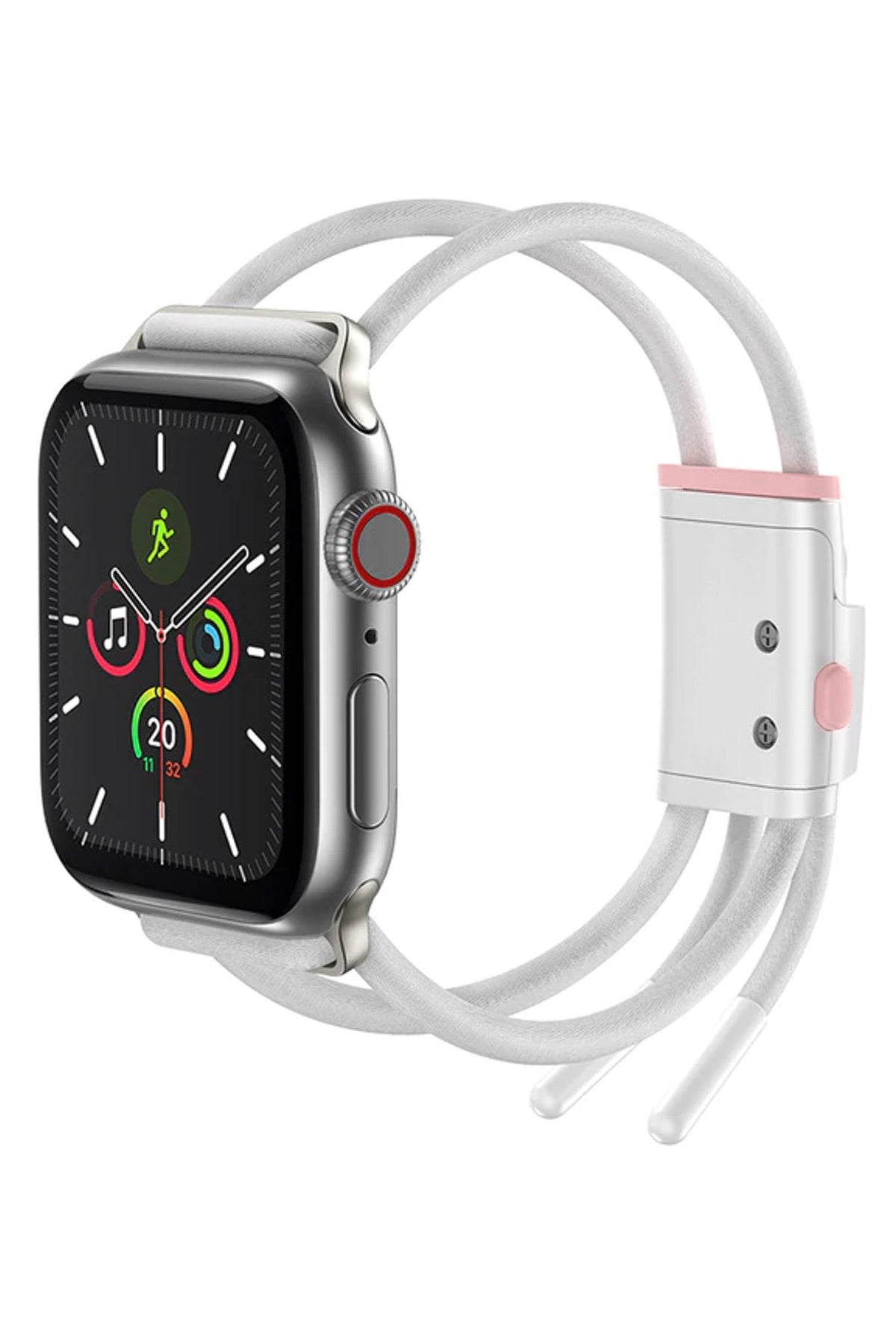 Apple Watch Uyumlu İp Kordon Beyaz