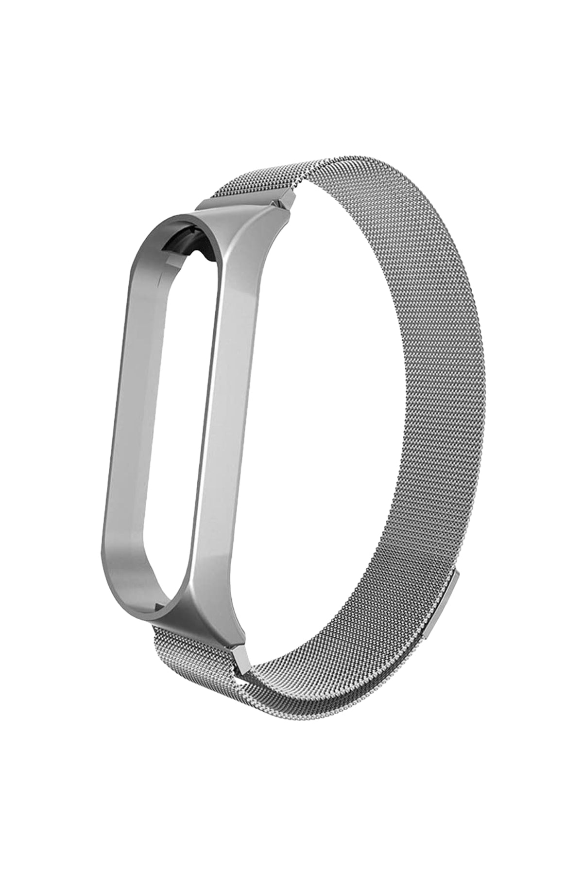 Xiaomi Mi Band 3 & 4 Uyumlu Metal Loop Gri