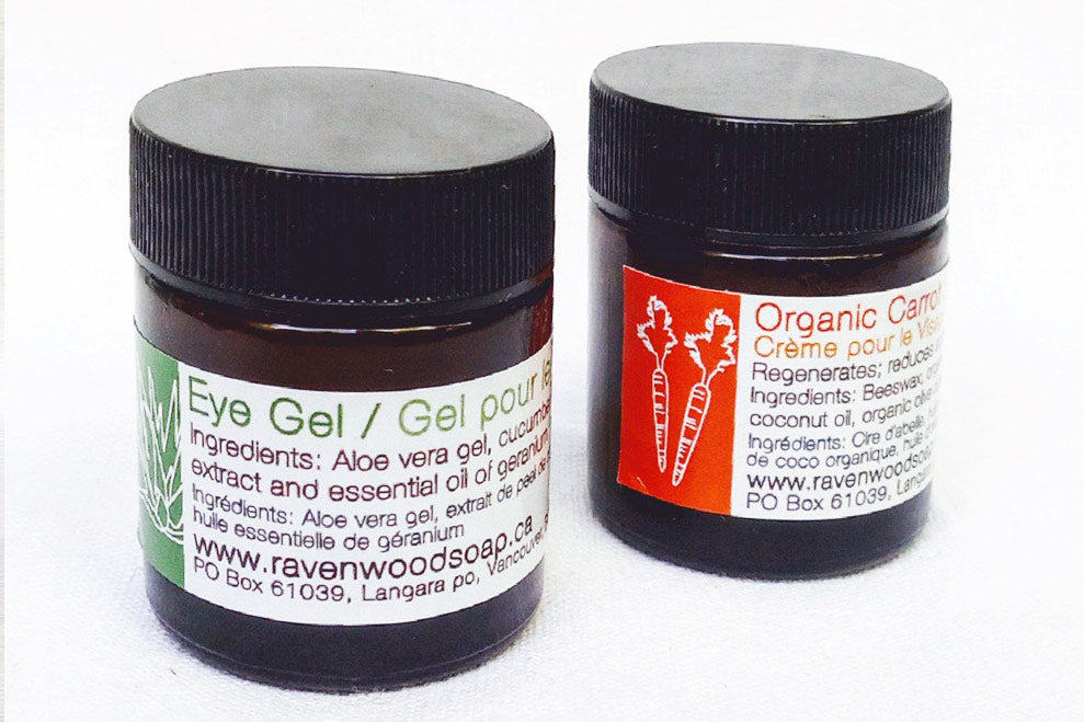 Eye gel and carrot seed set