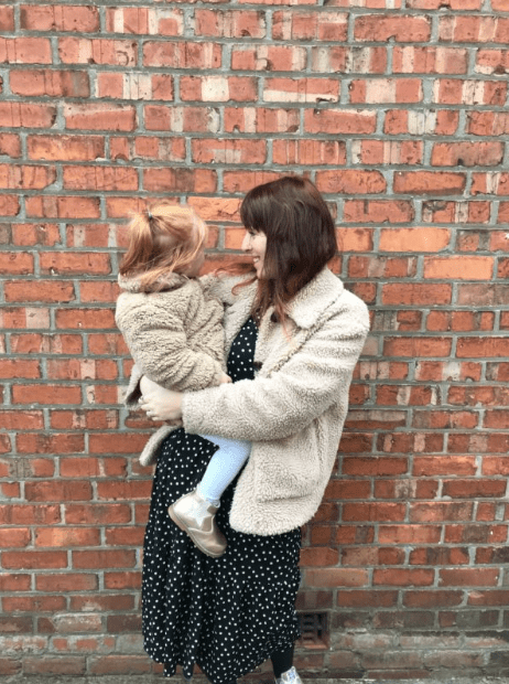 Emma from Isabella and us, and her daughter, sharing her experience of post-natal depression
