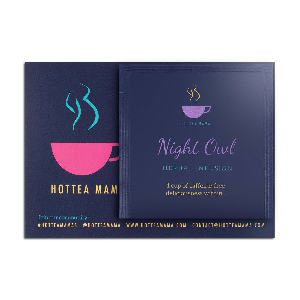HotTea Mama individual samples of Night Owl and Get Up & Glow pregnancy tea