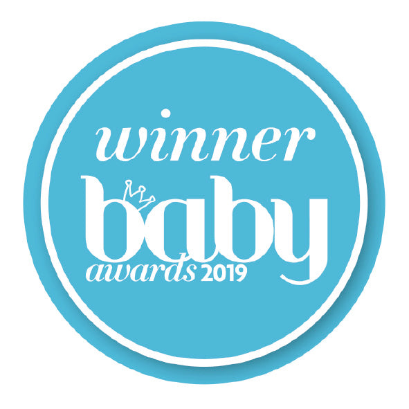 UK Baby Awards 2019 Best Maternity Product award logo for HotTea Mama The Final Push Raspberry Leaf Tea