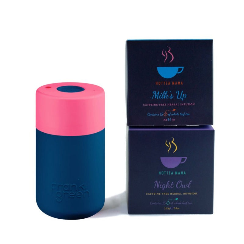 Breastfeeding Mama Gift Set with splashproof keepcup, milk's up breastfeeding tea and night owl tea