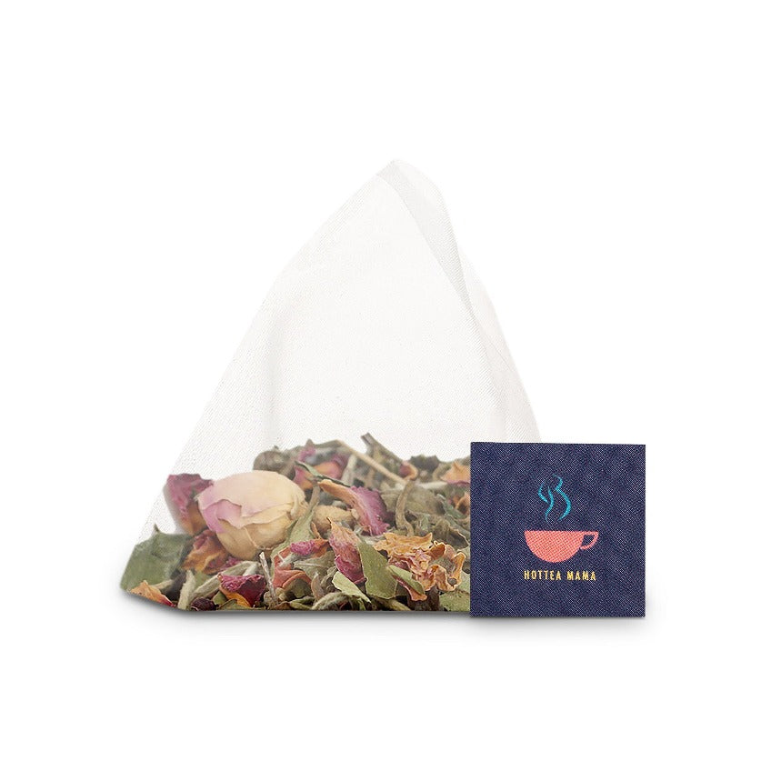 Newborn Wonder whole leaf tea pyramid bag, plastic free and biodegradable,perfect baby shower gift