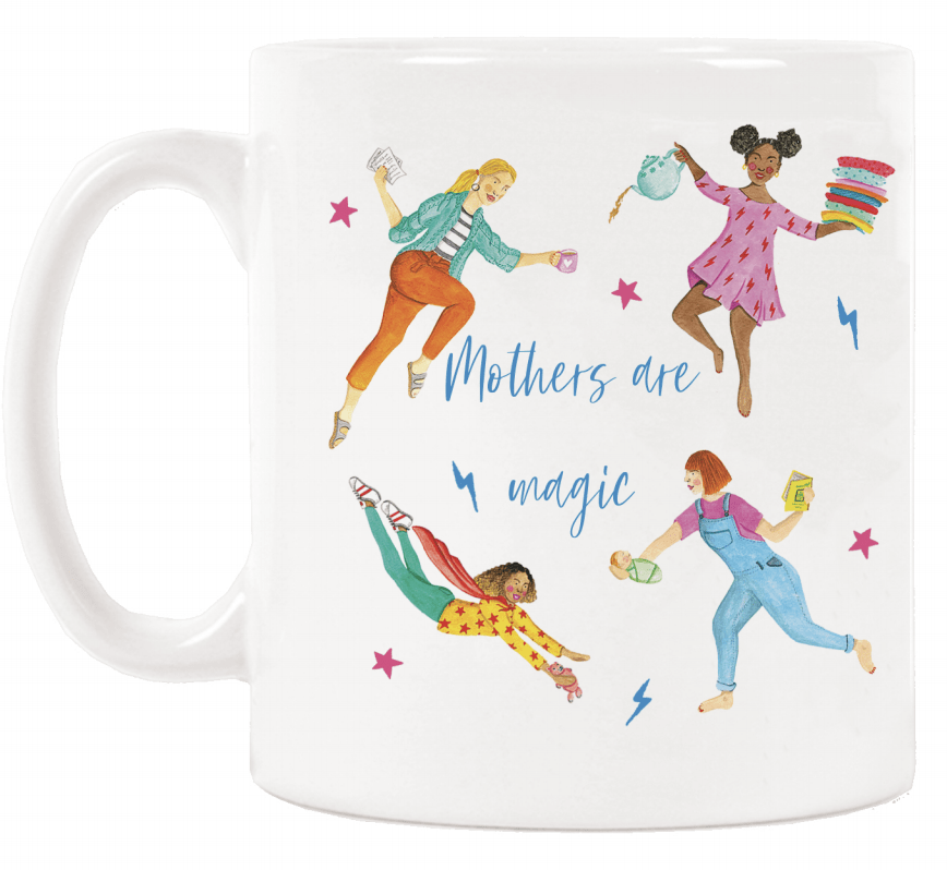 HotTea Mama Mother's Are Magic mug is part of the perfect mother's day or baby shower gift for a tea loving mum