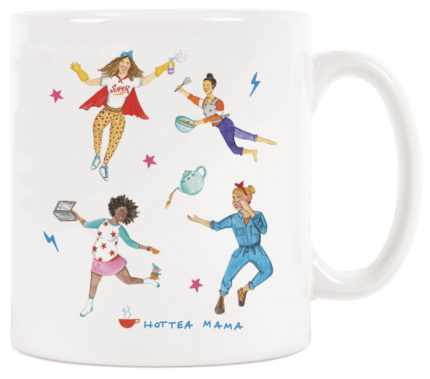 HotTea Mama Mother's Are Magic mug is a perfect pick me up gift for a tea loving mum