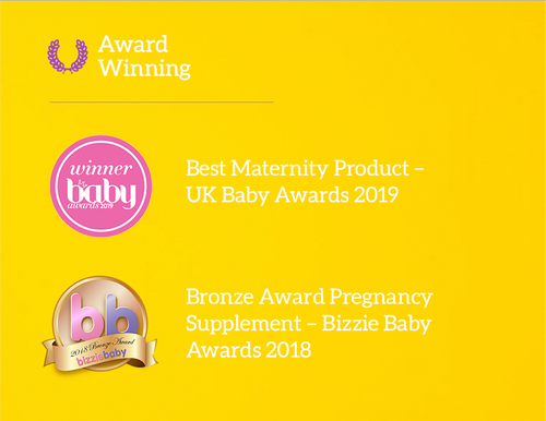 Morning Rescue herbal tea is award wining in 2018 Bizzie Baby Awards and 2019 UK Baby Awards