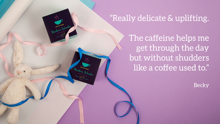 Newborn Wonder tea is the perfect baby shower gift, quote included from a customer -