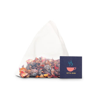 Each pack of HotTea Mama Get Up & Glow pregnancy tea has 15 whole leaf, plastic free tea bags inside