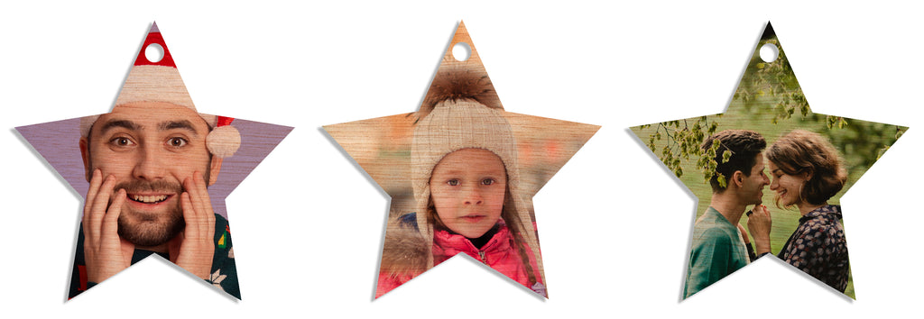 Tree Decs Set of 3 (Star)