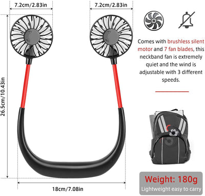 Portable Hanging Neck  Fan - CoocoShop