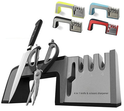 Knife Sharpener 4 in 1 Diamond Rod Knife Shears and Scissors Sharpening stone - CoocoShop