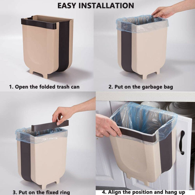 Foldable Hanging Trash Bin  for CABINET DOOR - CoocoShop
