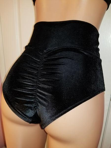 Cheeky Bottom in Black Velvet