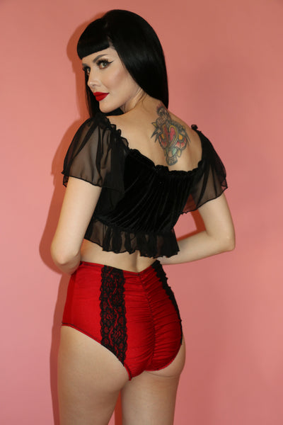 Sandra Lace Bottom in Red