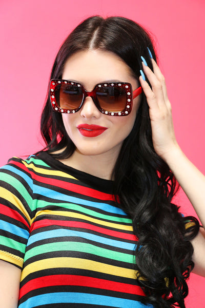 Abba Sunnies in Red