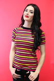 Jane Doe Tee in Pink Stripes
