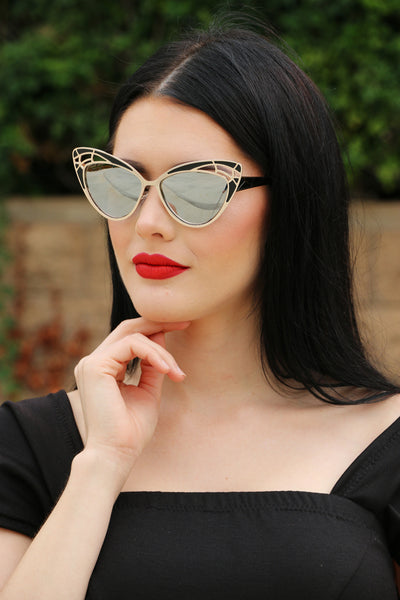 Butterfly Sunnies in Silver and Black