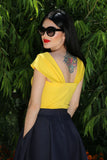 Alexandra Top in Yellow