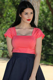 Alexandra Top in Coral