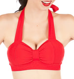 WINK Red Retro Bikini Top